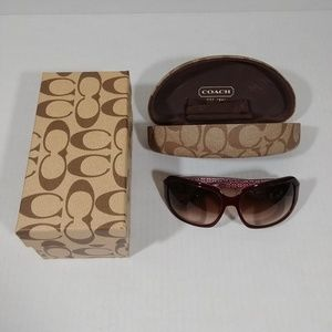 Coach Amandine  Sunglasses and Case with Box